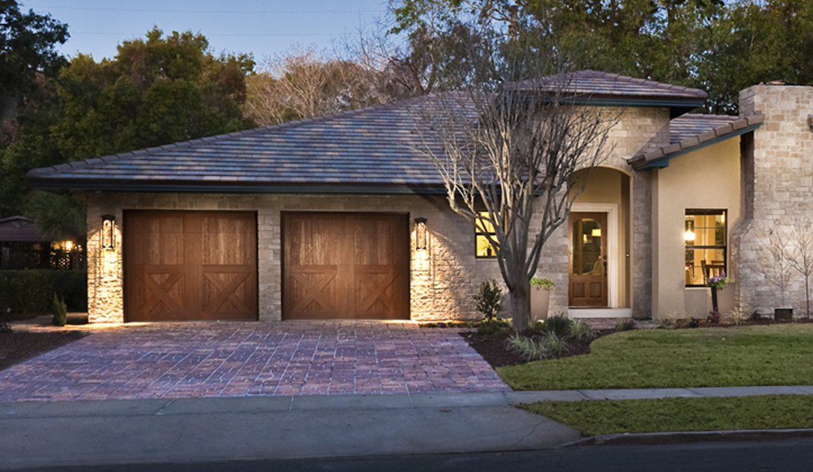 CANYON RIDGE® Carriage House (5-Layer) and Louver garage doors